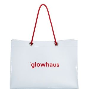 White & Red Bloomingdale's-Exclusive Glowhaus Tote